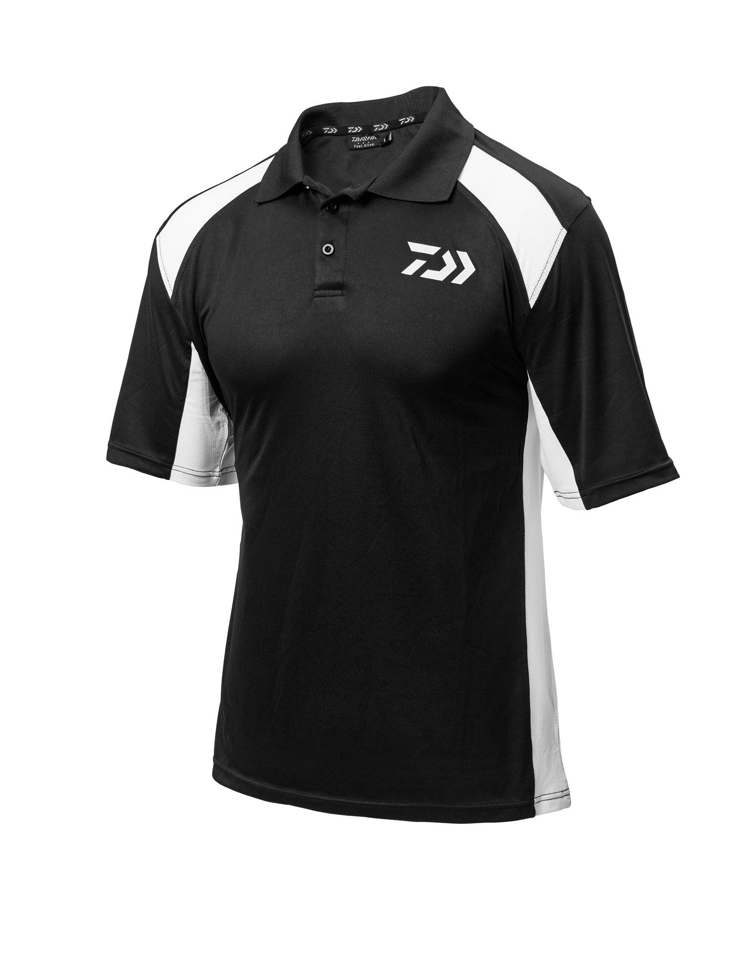 New Daiwa Polo Shirts - Black Red - Black White - Black Blue - Med ... 352151036bbf