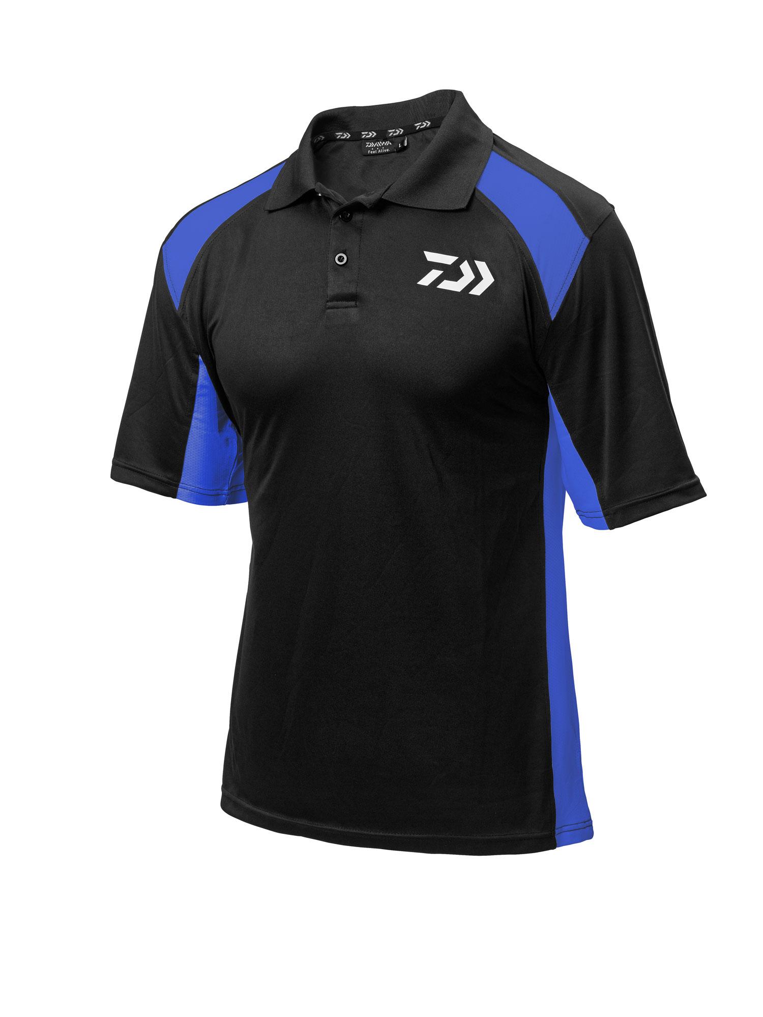 New Daiwa Polo Shirts Black Red Black White Black