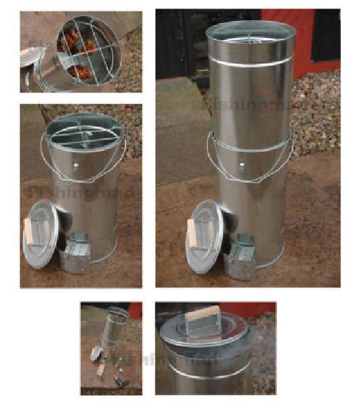 FISH AND MEAT BBQ COLD OR HOT FOOD SMOKER COOKER WITH FREE WOOD CHIPS & BRINE Enlarged Preview