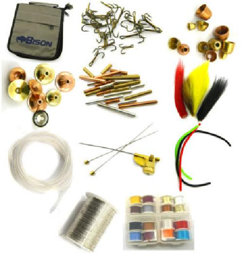 Salmon sea trout tube fly tying kit ebay for Fly fishing tying kit