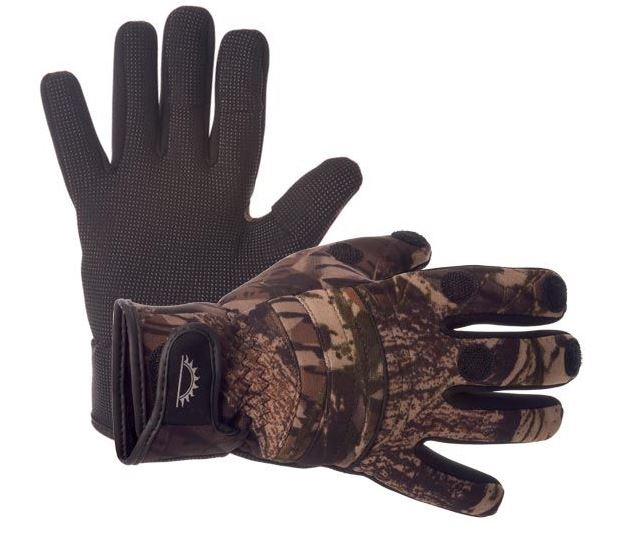Sundridge hydra full finger camo neoprene gloves ebay for Neoprene fishing gloves