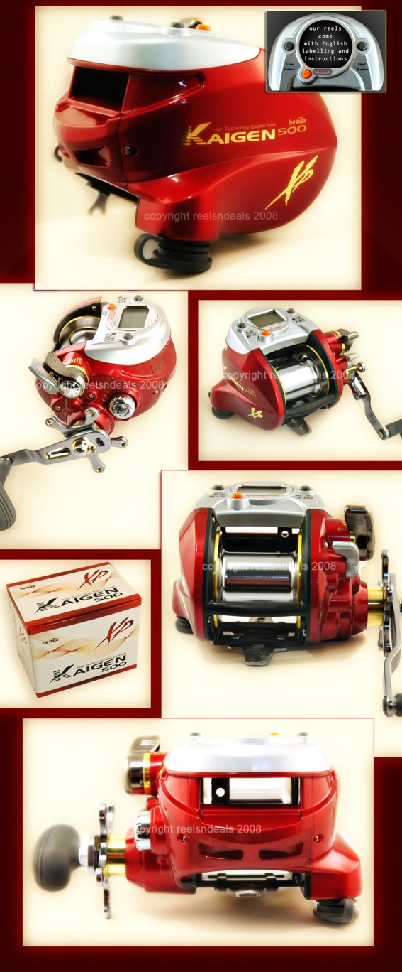 THE NEW BANAX KAIGEN 500 XP ELECTRIC MULTIPLIER  REEL Enlarged Preview