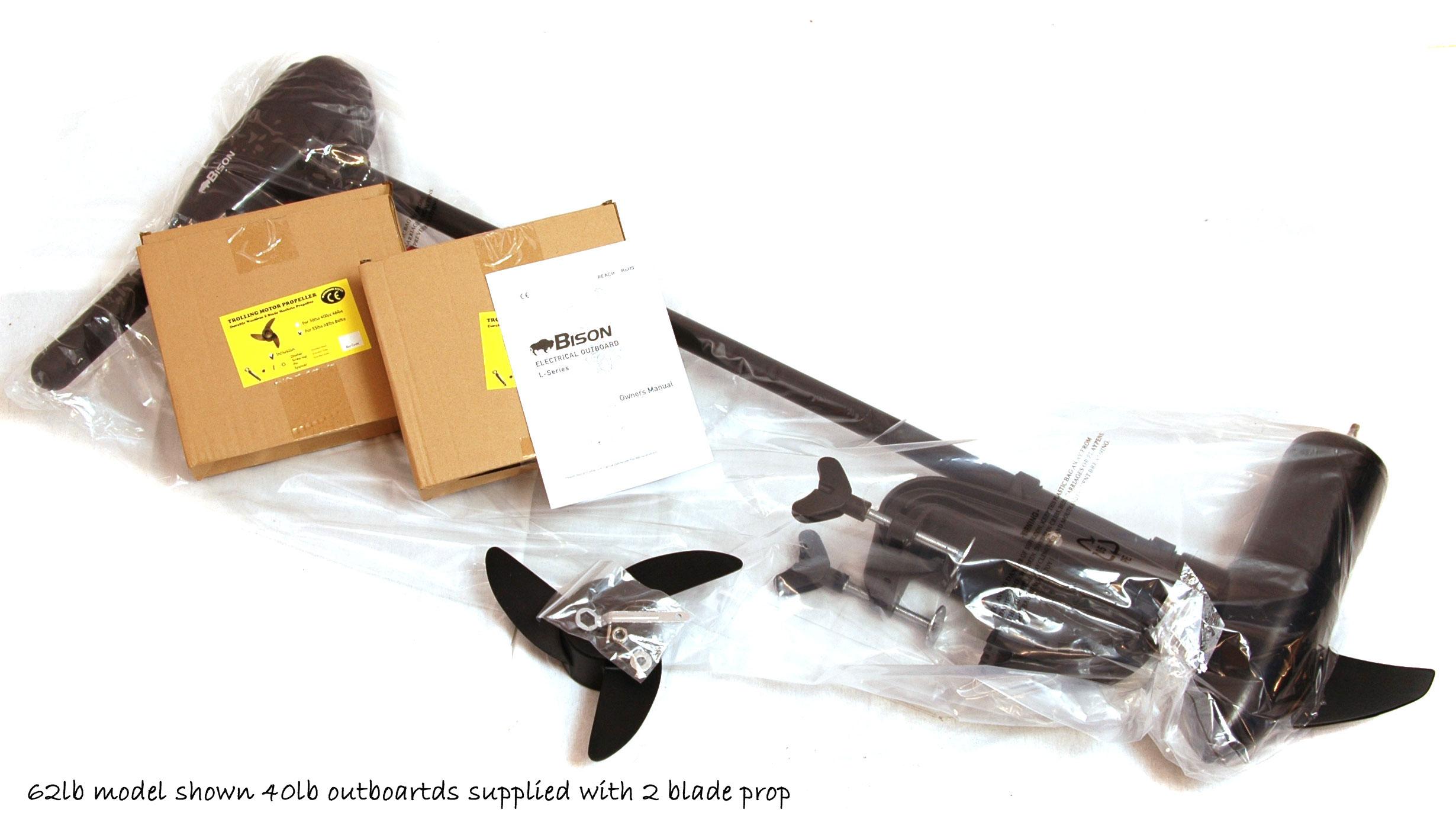 Bison 55ft Lb Electric Outboard Motor Ebay