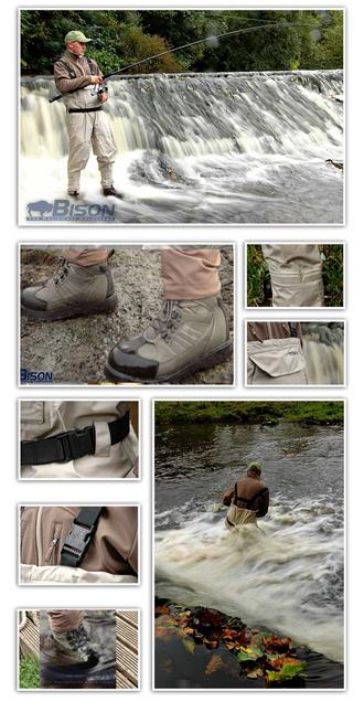 BISON BREATHABLE CHEST WADERS ,BOOTS ,STAFF & STUDS Preview