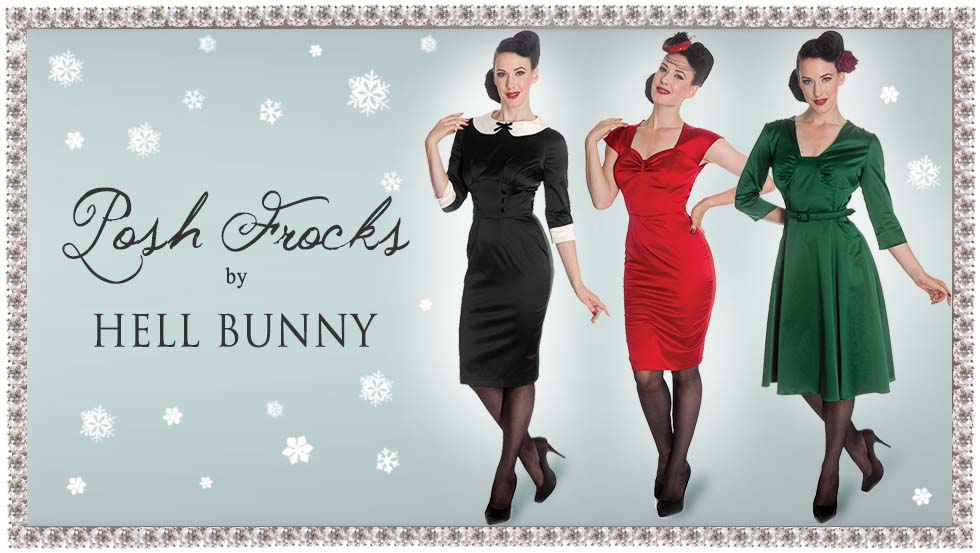 Vintage 40s Style Dresses by Hell Bunny - Click to Shop!
