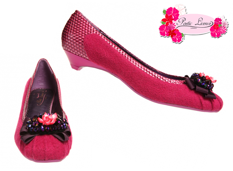 Poetic Licence Notice Me Poppy Pink Vintage Shoes