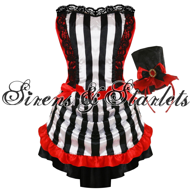 kost m damen schwarz rot goth burlesque vampir minikleid. Black Bedroom Furniture Sets. Home Design Ideas