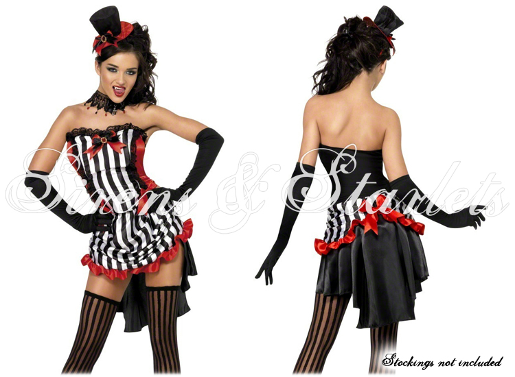 kost m damen schwarz rot goth burlesque vampir minikleid fasching halloween ebay. Black Bedroom Furniture Sets. Home Design Ideas