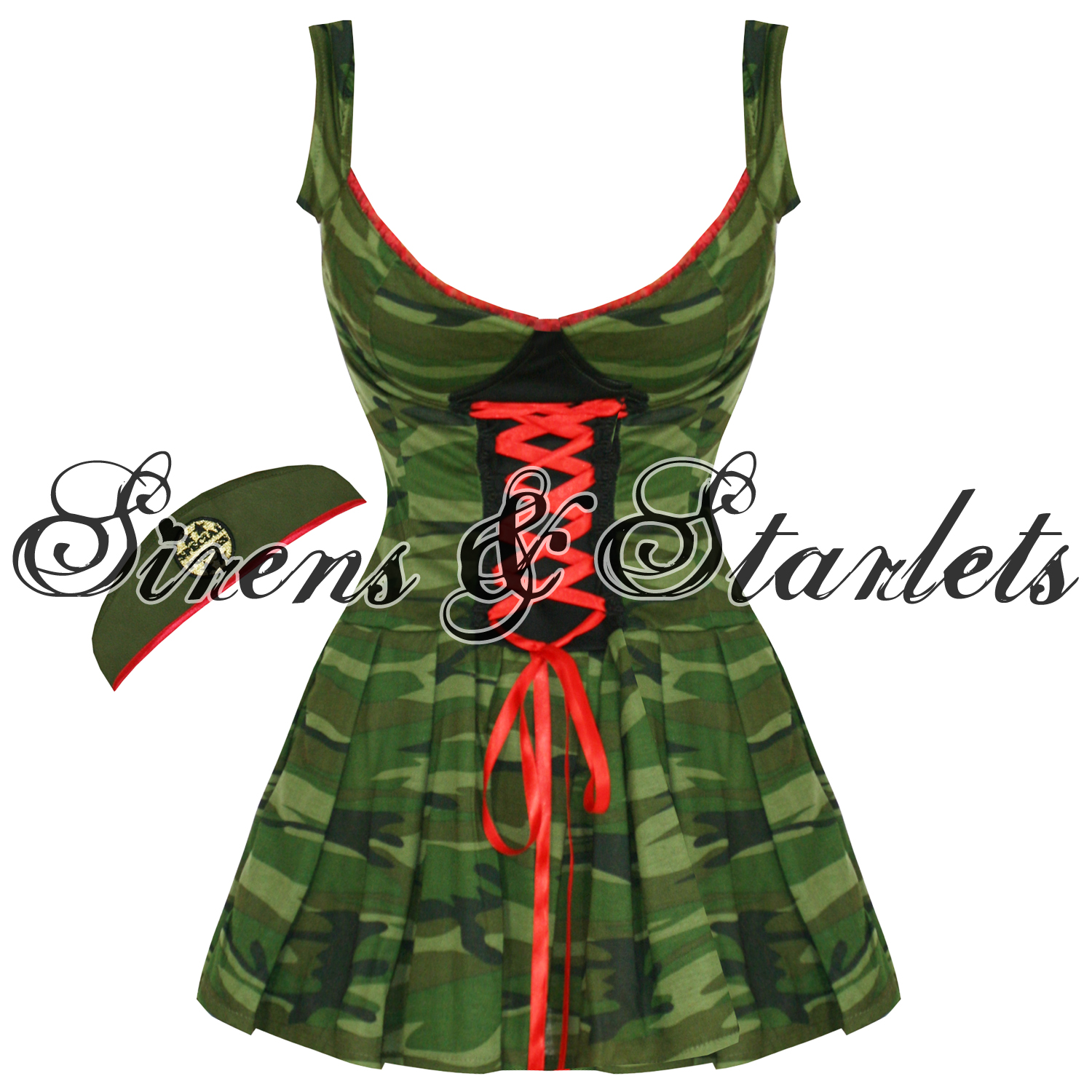 SEXY-CAMO-NURSE-40S-VTG-PINUP-FORCES-FANCY-DRESS-OUTFIT