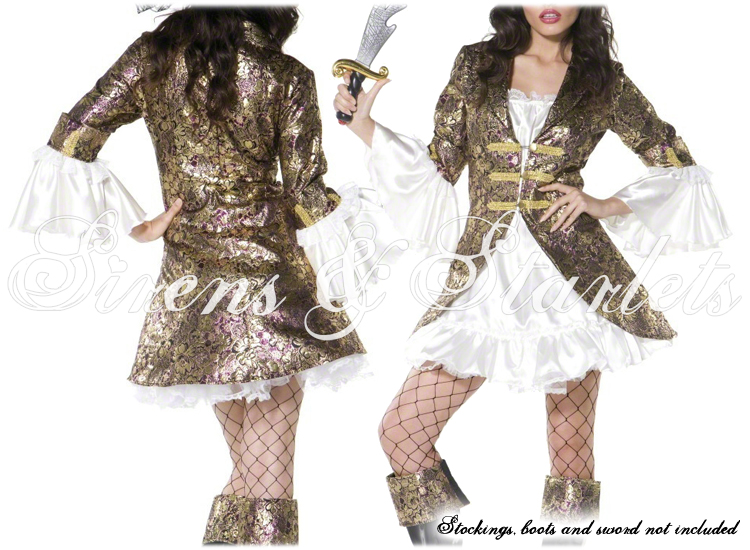 SEXY-PIRATE-BUCCANEER-GOLD-FANCY-DRESS-JACKET-OUTFIT