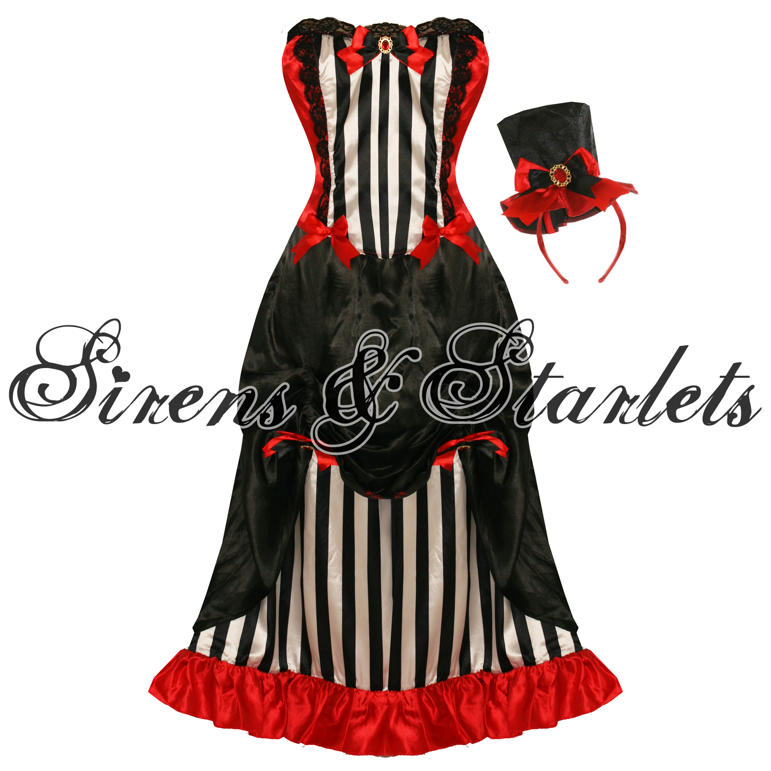 LADIES-NEW-BLACK-STRIPE-SEXY-GOTHIC-BURLESQUE-VAMPIRE-FANCY-DRESS-OUTFIT-COSTUME