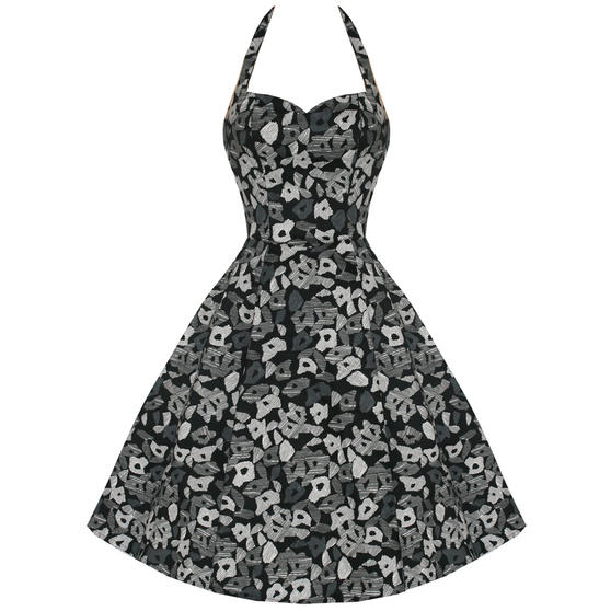 Hearts and Roses London Geometric 1950s Dress