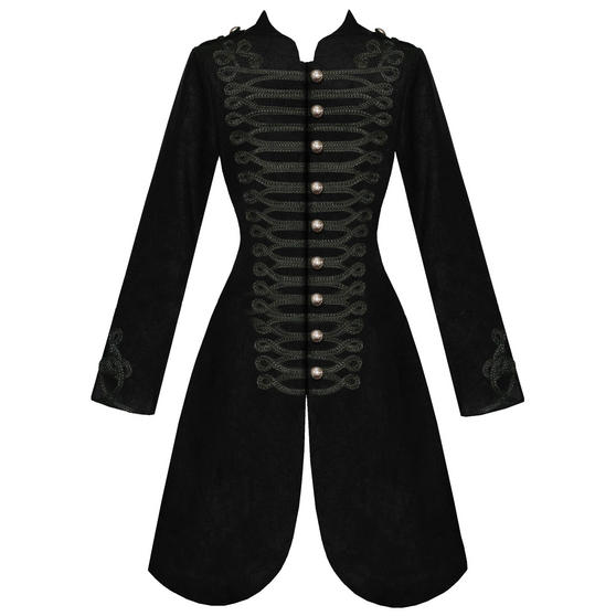 Hearts and Roses London Black Military Coat