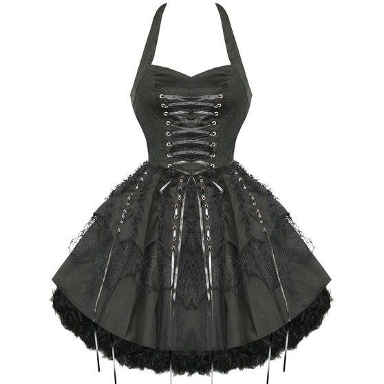 Hearts and Roses London Black Gothic Dress