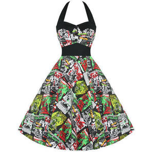 Hell Bunny B Movie Womens Ladies 50S B Movie Horror Rockabilly Prom Party Dress