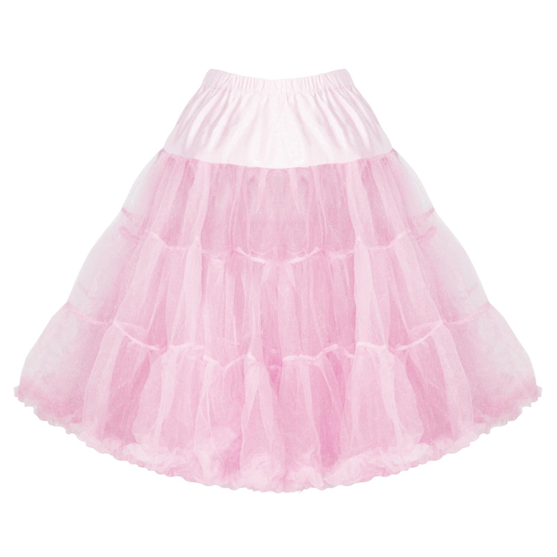 damen unterrock petticoat rosa 63 cm lang netzgewebe 50er. Black Bedroom Furniture Sets. Home Design Ideas