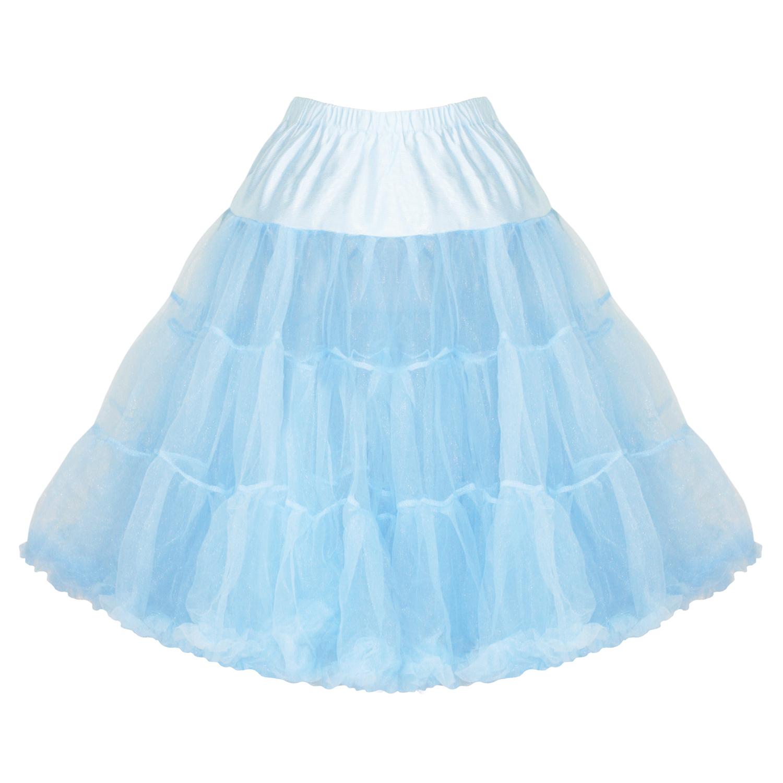 hell bunny light blue 25 quot net tulle vtg 50s