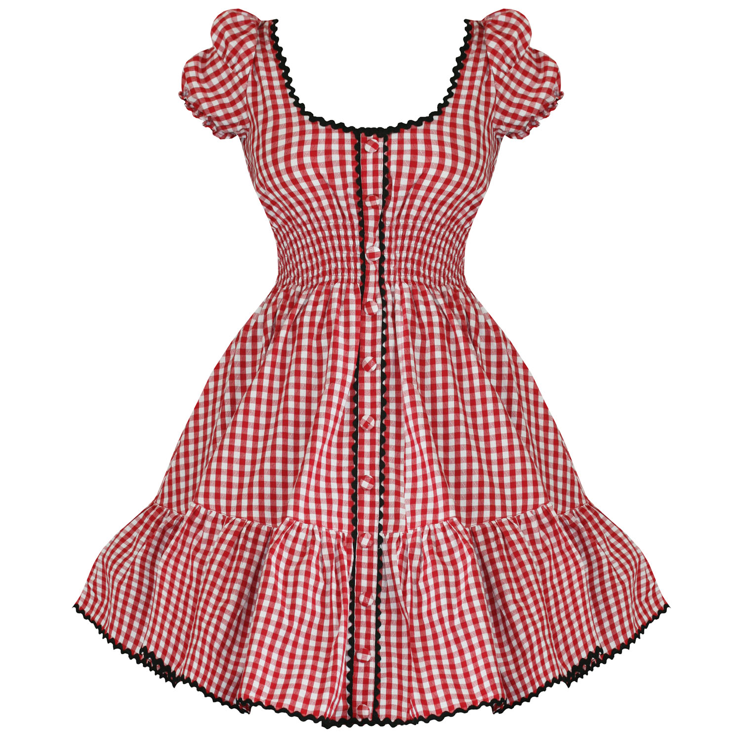 HELL BUNNY MAUDE LADIES NEW RED GINGHAM LOLITA 50S VTG ROCKABILLY ...