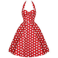 Hell Bunny Meriam Red Polka Dot Retro Vtg 50S Rockabilly Pin Up Swing Prom Dress
