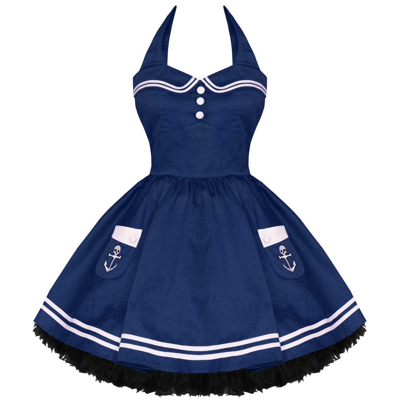 Hell bunny motley new navy vtg 50s nautical sailor for Rockabilly outfit damen