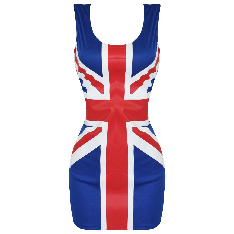 Mini robe femme deguisement spice girls ginger drapeau anglais annees 60 90 neuf ebay - Deguisement annee 90 femme ...