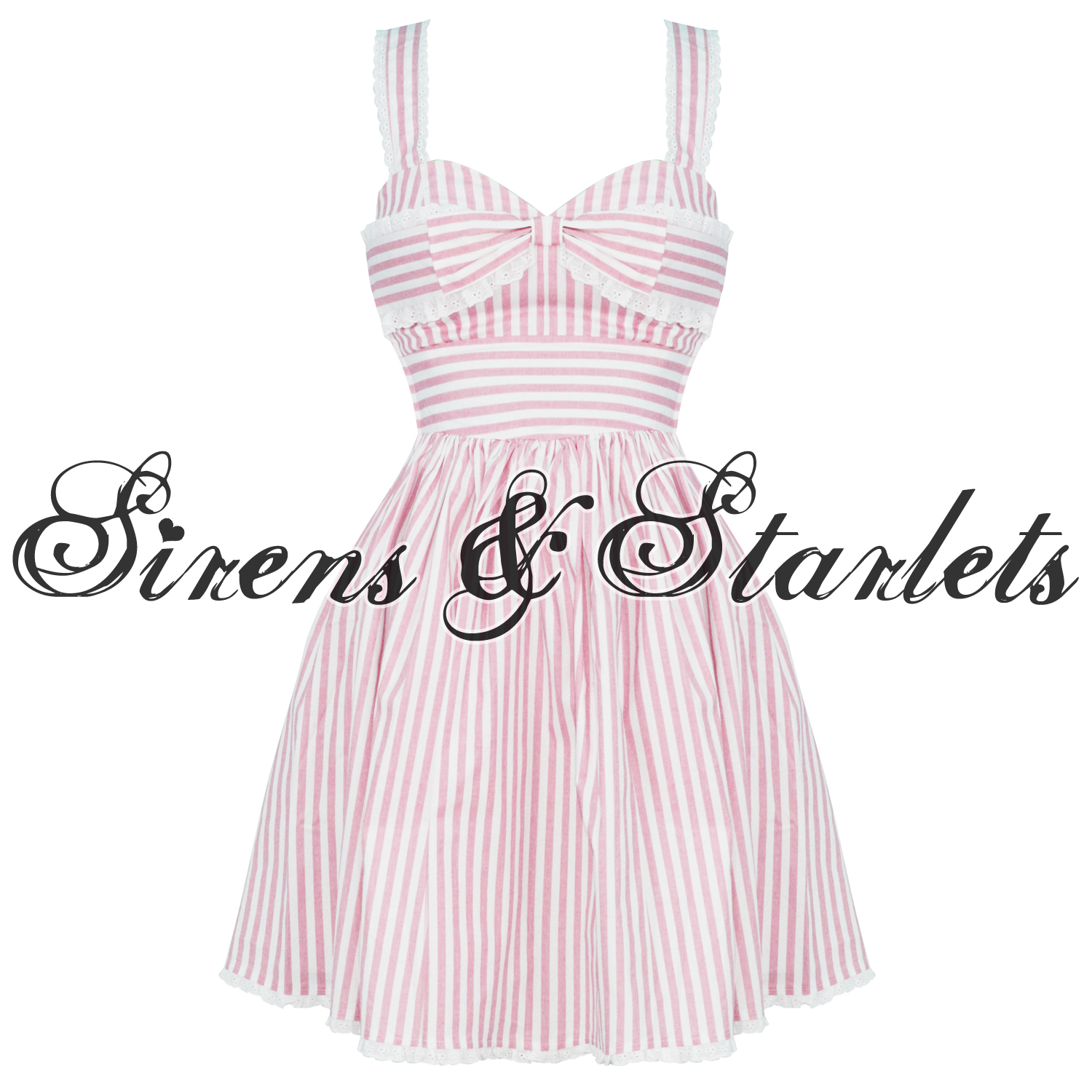 HELL-BUNNY-IVANA-LADIES-NEW-NAUTICAL-PINK-SAILOR-STRIPE-50S-VTG-PROM-PARTY-DRESS