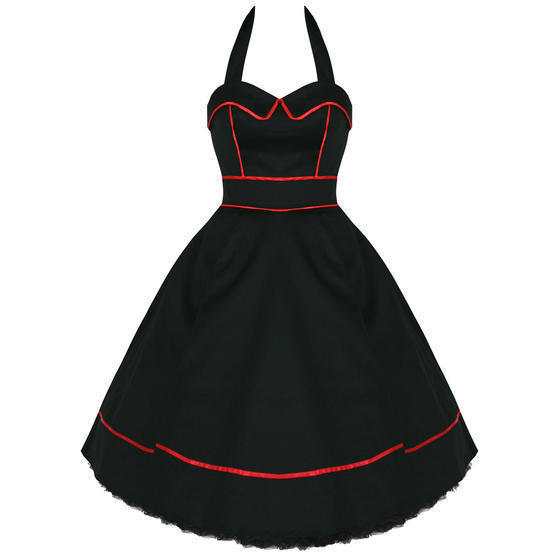 Hearts and Roses London 1950s Retro Pinup Rockabilly Party Prom Swing Dress