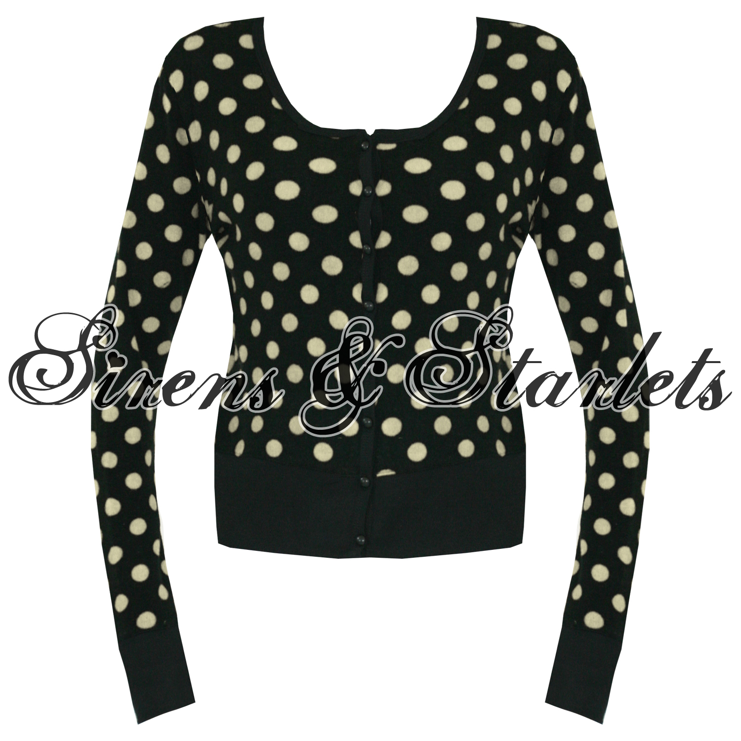 oberteil shirt damen schwarz wei polka punkte vtg rockabilly pullover ebay. Black Bedroom Furniture Sets. Home Design Ideas