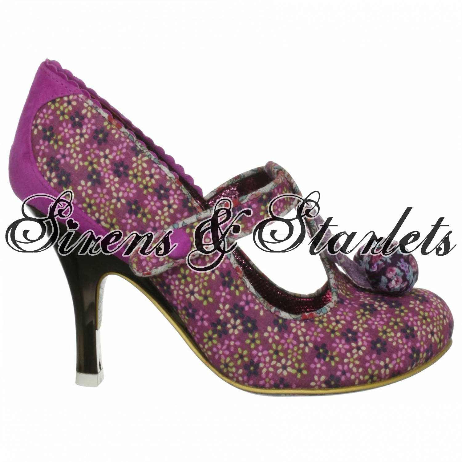 IRREGULAR-CHOICE-I-LOVE-MARK-PINK-FORAL-VINTAGE-RETRO-50S-60S-STYLE-PUMPS-SHOES