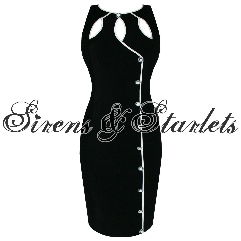 Damen kleid voodoo vixen schwarz vintage 50er jahre retro for Rockabilly outfit damen