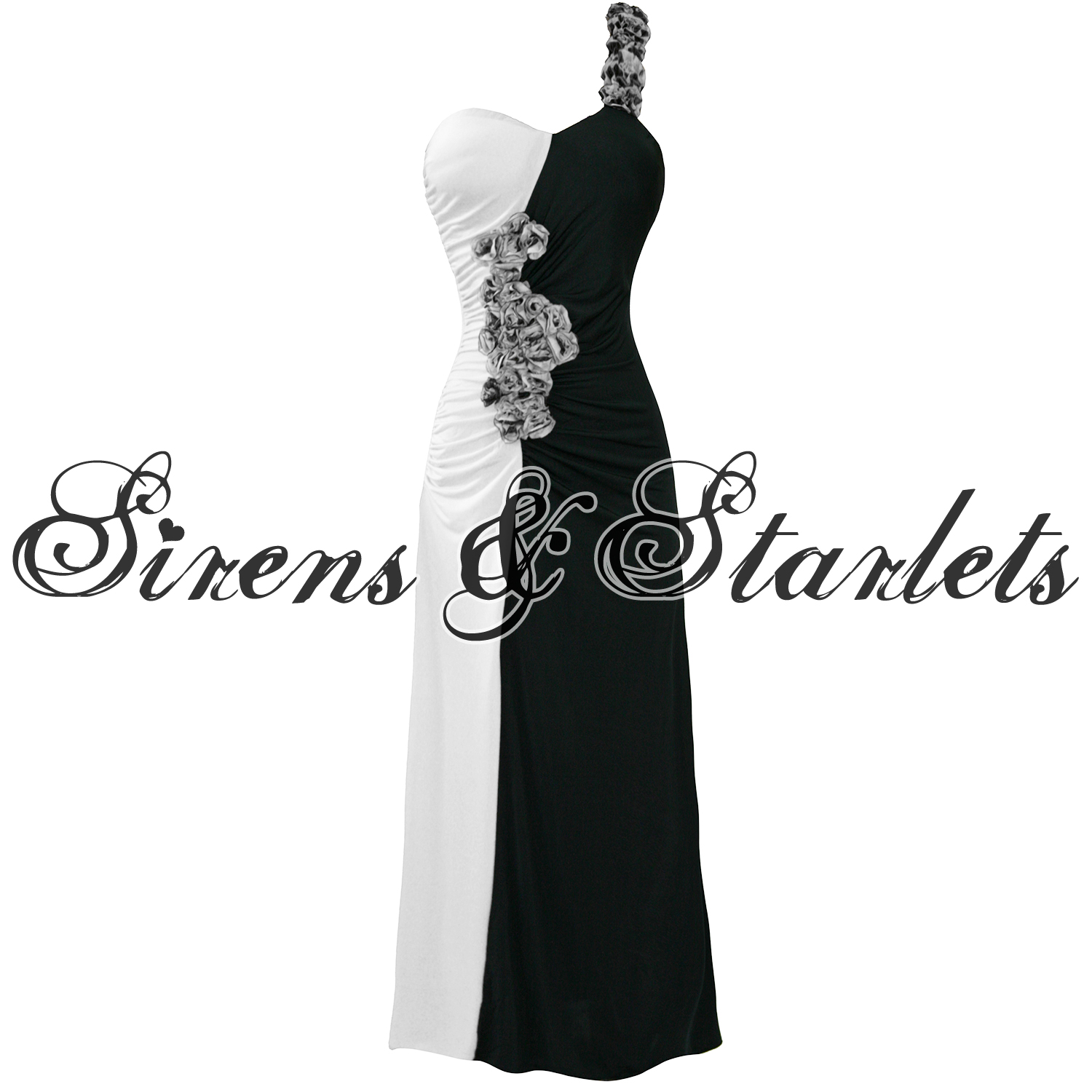 LADIES-NEW-WHITE-FLORAL-ONE-SHOULDER-LONG-MAXI-EVENING-COCKTAIL-PROM-GOWN-DRESS
