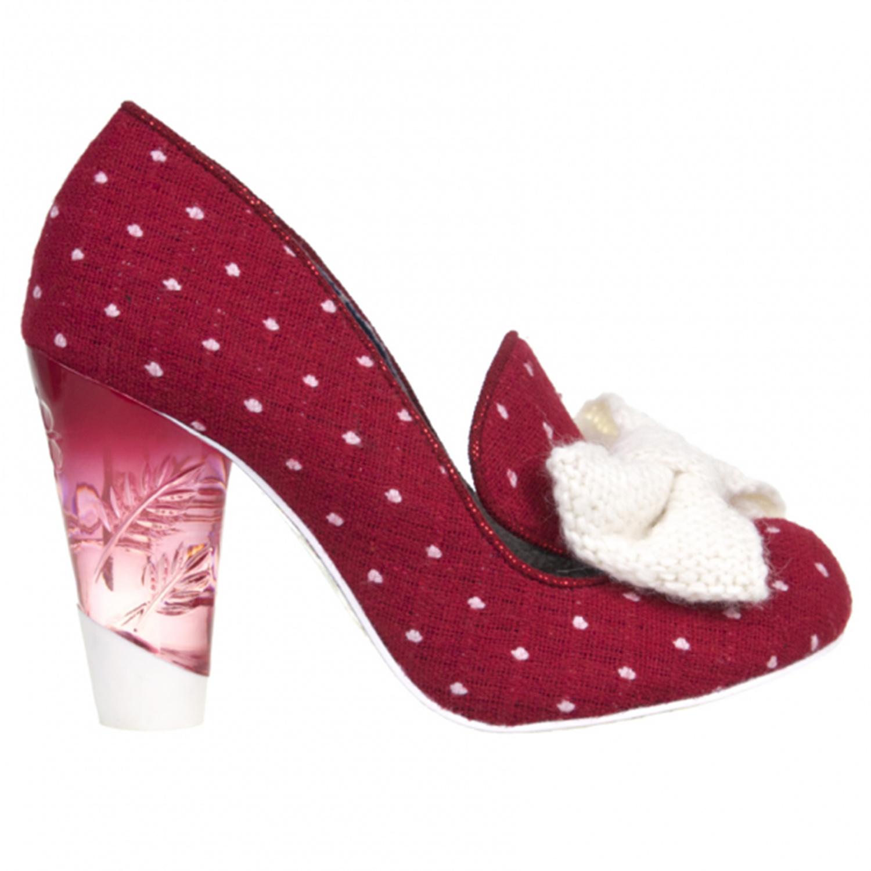 irregular choice womens bowtiful polka dot vintage