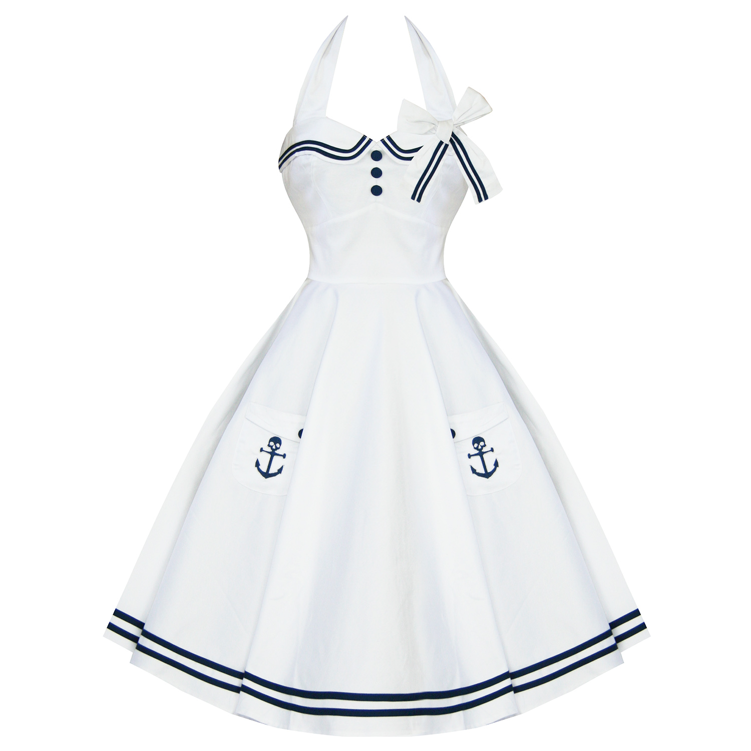 Retro White Dress