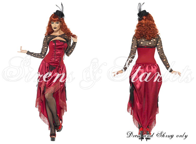 Damen Sexy Moulin Rouge Kleid Verkleidung Kostüm Halloween Steampunk