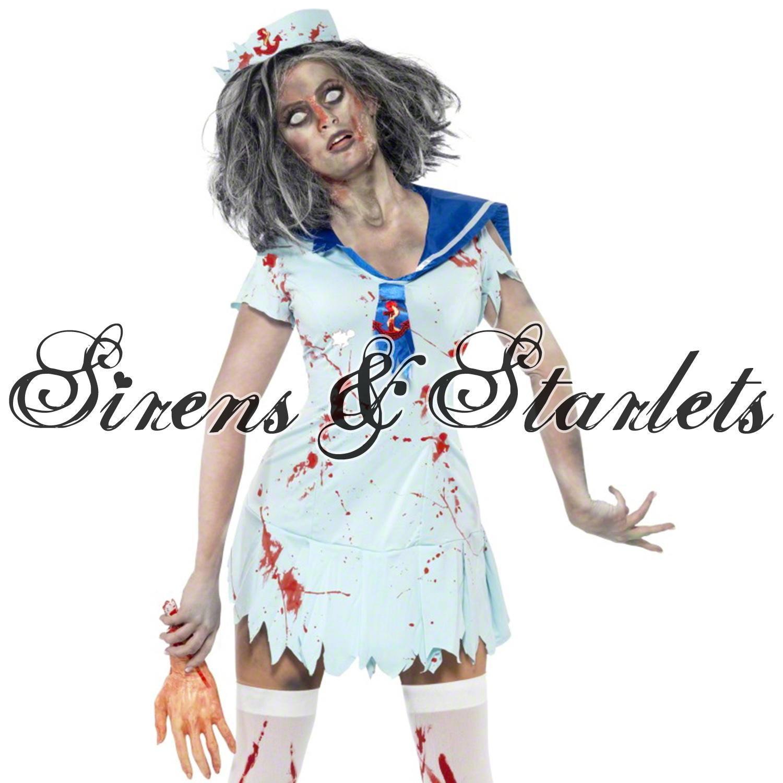 Damen Sexy Zombie Kostüm Verkleidung Halloween Party Outfit Pinup ...