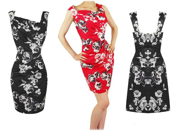 EUCALYPTUS PENELOPE WOMENS TAILORED FITTED BLACK FLORAL SUMMER SUN ...