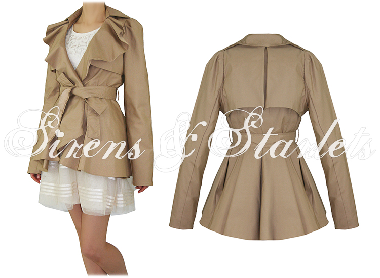 Soma London Womens Ladies New Beige Vintage Frill Pelum Belted ...