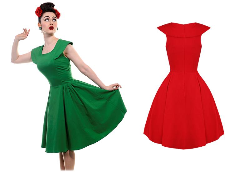 Banned Robe Rouge Style Année 50 Jupon Jupe évasée