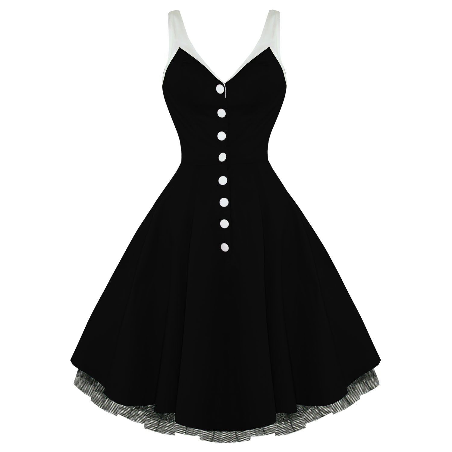 About you and me Stock-hearts-and-roses-london-6877-black-fifties-dress-g