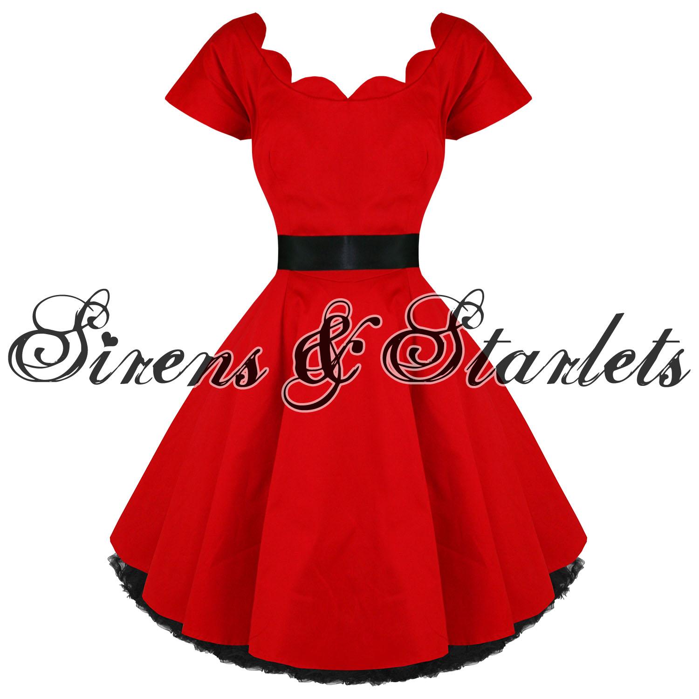 hearts roses london kleid rot vintage 50er partykleid. Black Bedroom Furniture Sets. Home Design Ideas