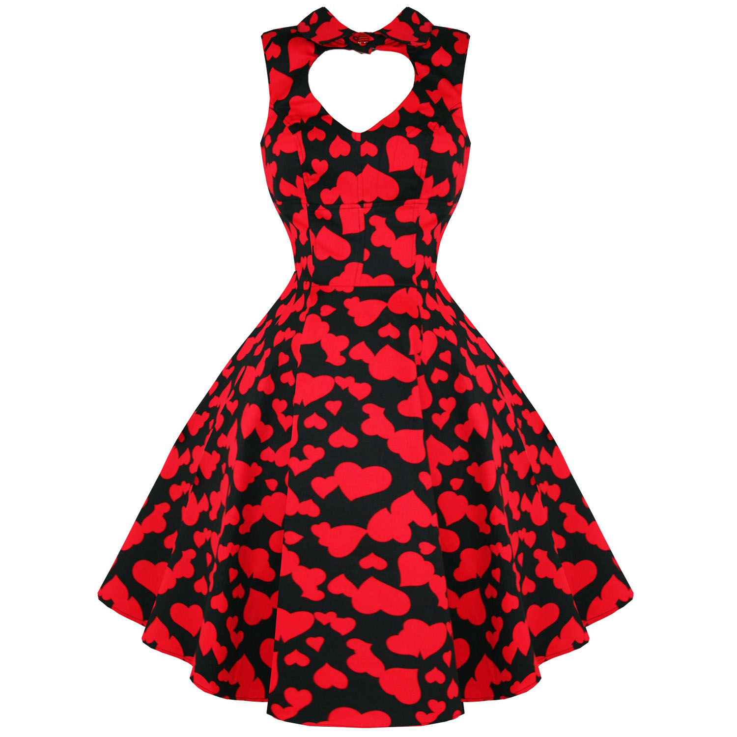Hearts-amp-Roses-London-Red-Heart-Valentines-Vintage-50s-Party-Prom-Swing-Dress