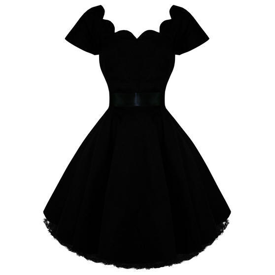 Hearts and Roses London Black 1950s Dress
