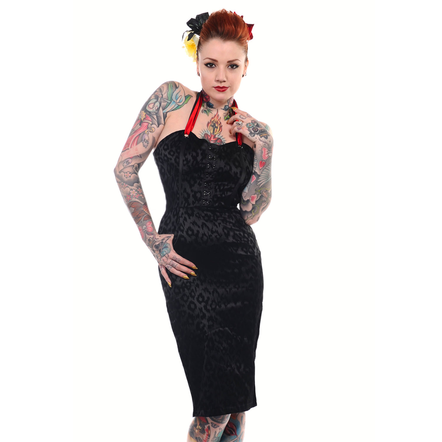 Banned Black Leopard Rockabilly Pinup Vintage 50s Cocktail Party ...