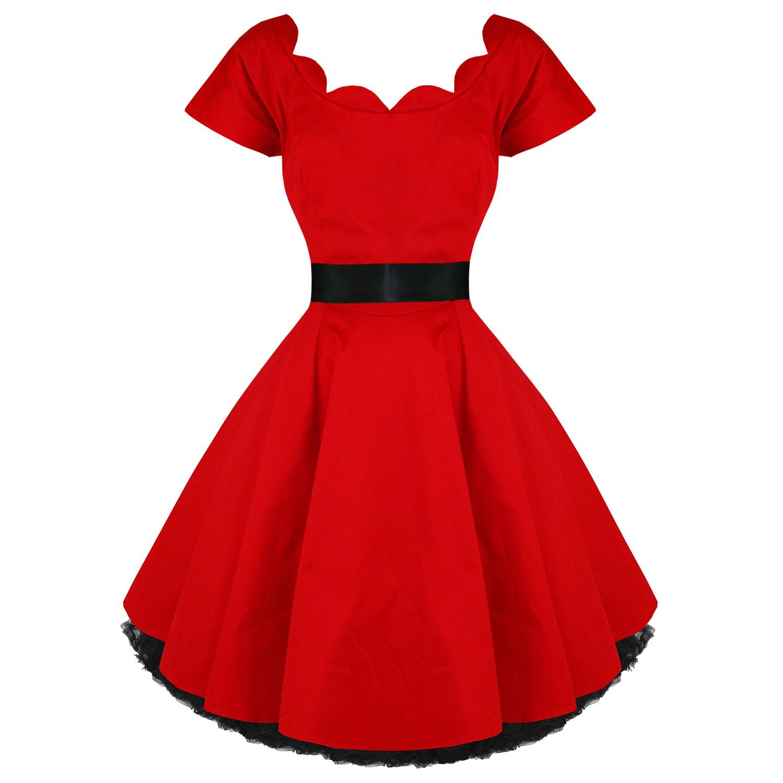 hearts roses london kleid rot vintage 50er partykleid swing tanzen ebay. Black Bedroom Furniture Sets. Home Design Ideas