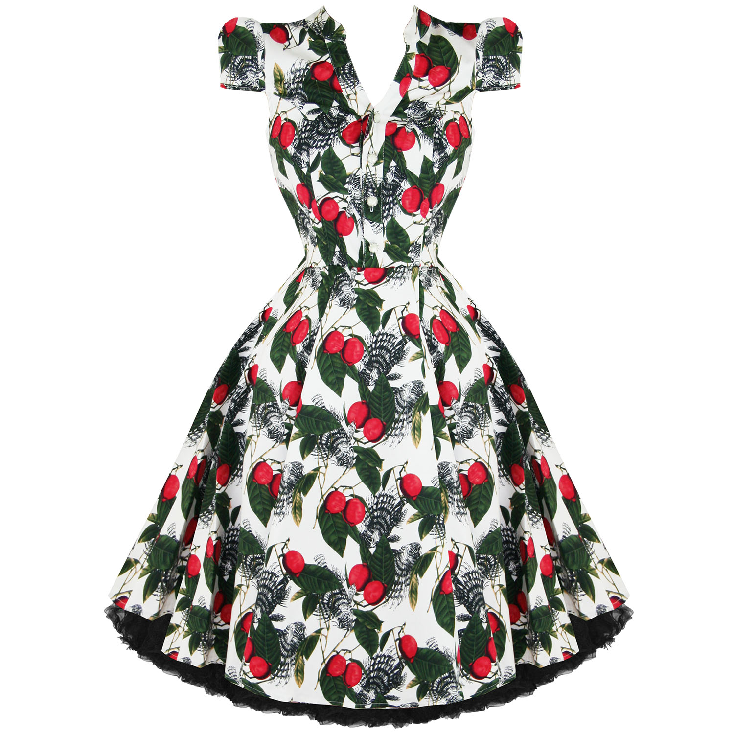 Hearts & Roses London White Vintage 50s Retro Party Prom Swing ...