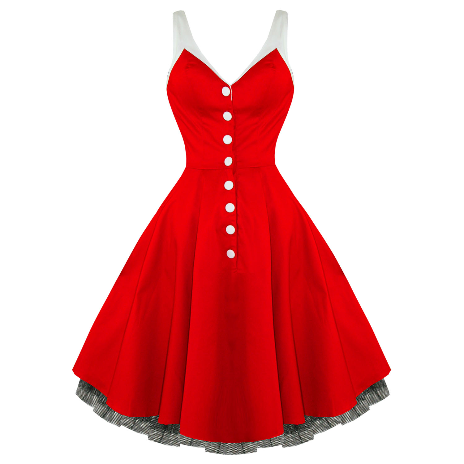 Hearts & Roses London Kitsch Red Vintage 50s Party Prom