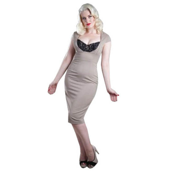 Gerry Roxby Vintage Lace Pencil Dress