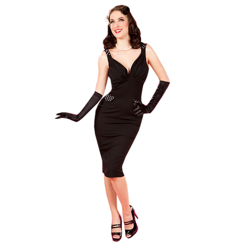 miss candyfloss robe tenue de soiree femme noir a decollte. Black Bedroom Furniture Sets. Home Design Ideas