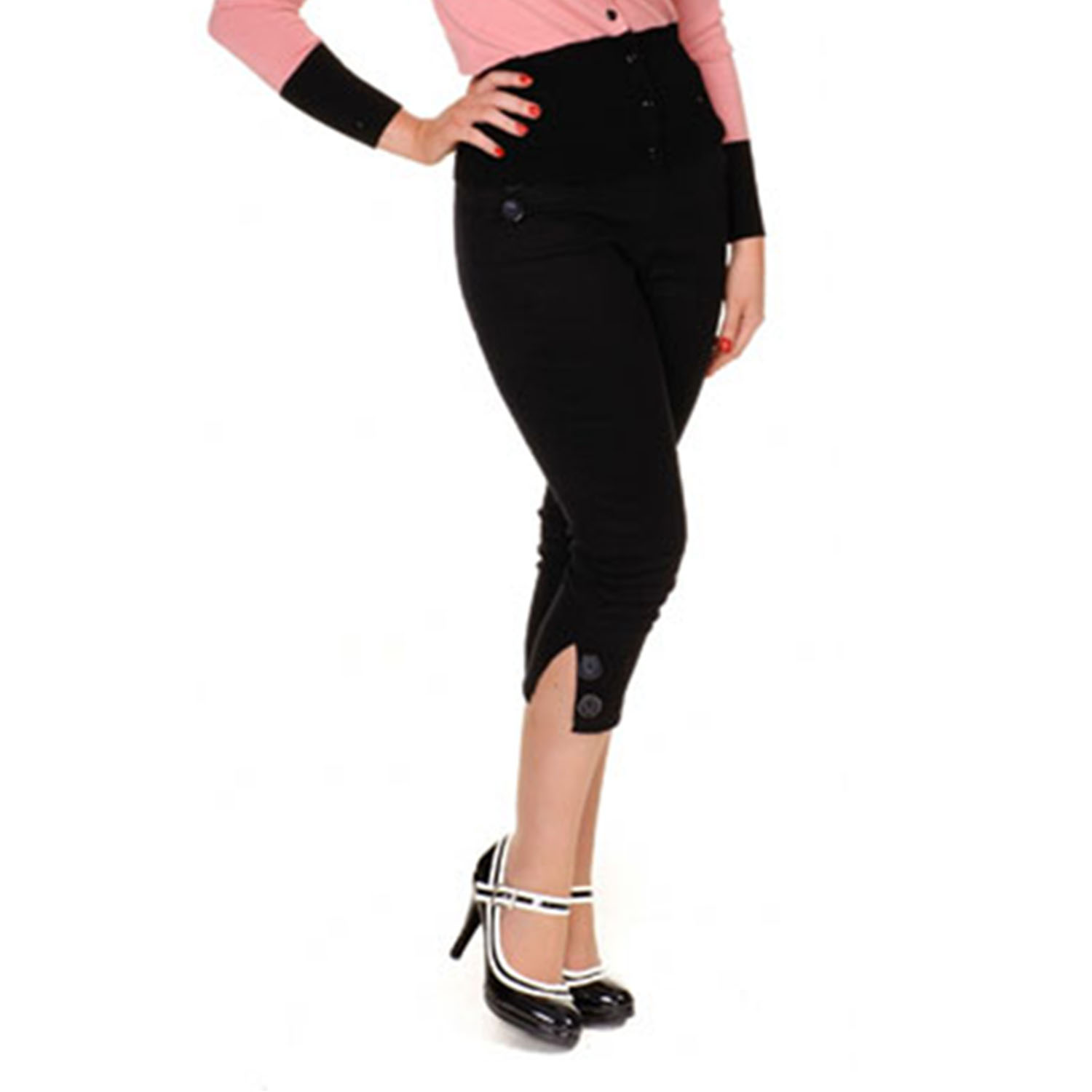 caprihose damen collectif hilda vintage 50er rockabilly kurz capri jeans ebay. Black Bedroom Furniture Sets. Home Design Ideas