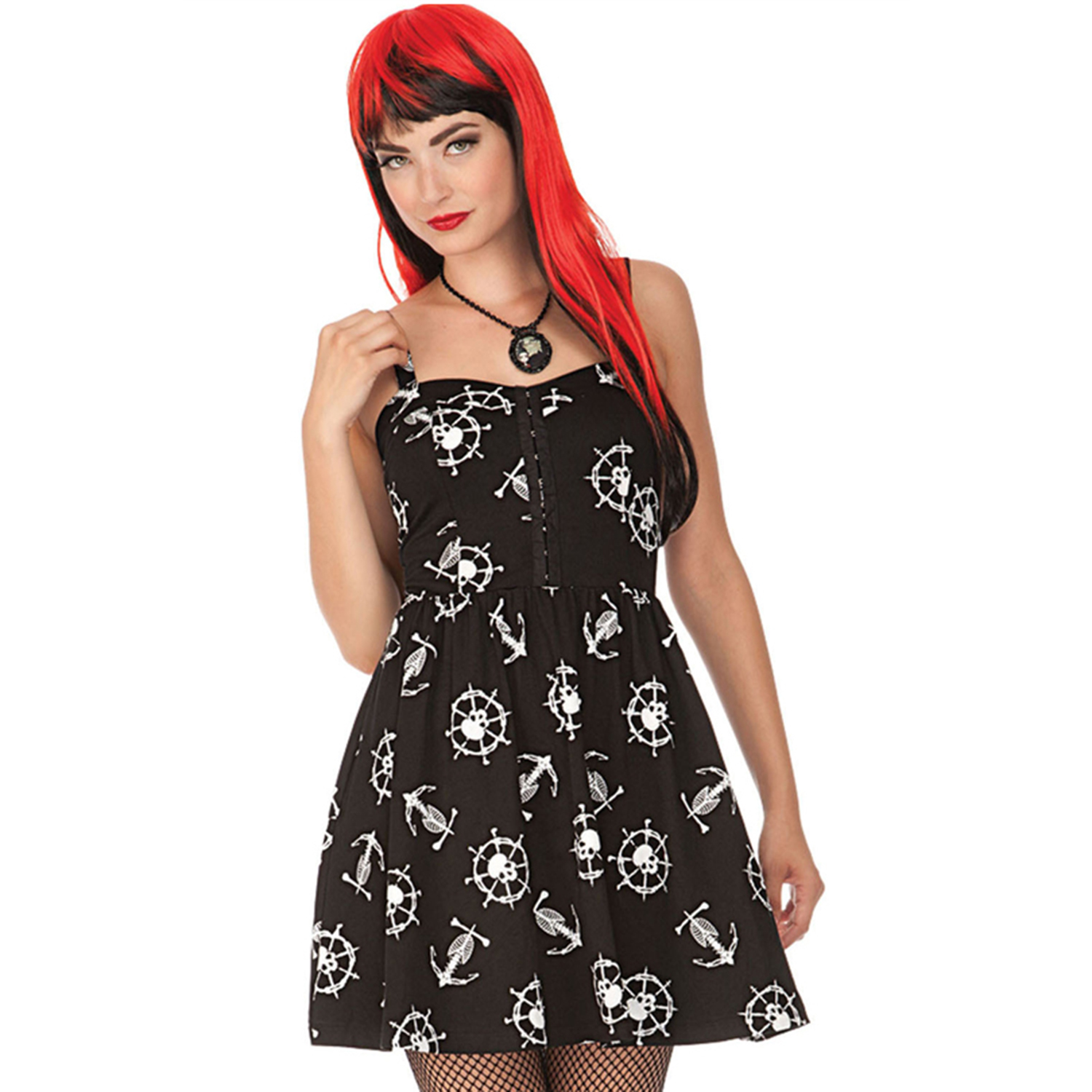 Voodoo Vixen Black Nautical Sailor Pirate Fit and Flare ...